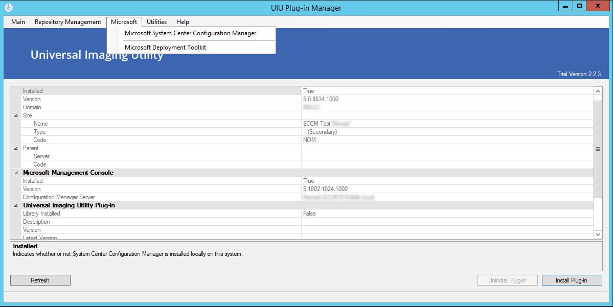 UIU Plug-ins 2 0 - SCCM Install Guide